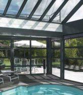 Veranda style atelier : faire veranda piscine