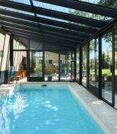 Decoration veranda exterieur par veranda et piscine interieure