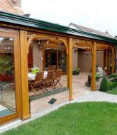 Plan veranda ossature bois, extension veranda sur maison ancienne