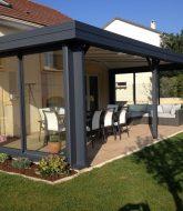 Longere avec veranda | abri de jardin avec veranda