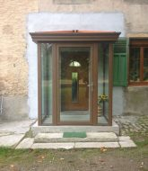 Veranda pour porte d'entrée : veranda interieur maison