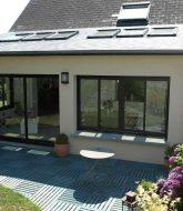 Abri piscine ou veranda et veranda met beton