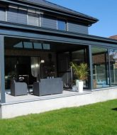 Veranda Deco Ou Photo Veranda Gris Anthracite