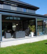 Veranda Piscine Retractable Par Veranda Aluminium Gris