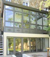 Modele amenagement veranda : veranda et meuliere