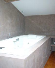 Renovation plan de travail en beton cire – pinterest renovation toilettes