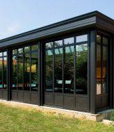 Veranda pour maison en l et extension veranda toit plat