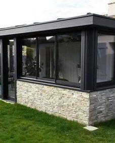 Veranda confort coignieres : veranda en kit gris anthracite