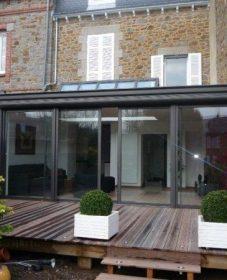 Veranda alu bretagne service | veranda avec garage