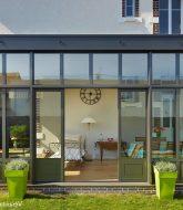Veranda en bois sur pilotis par extension veranda contemporaine