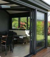 Veranda alu toit plat | wood veranda design