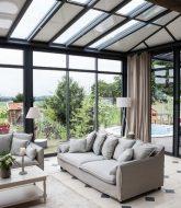 Veranda jean blanc monistrol, veranda style verriere