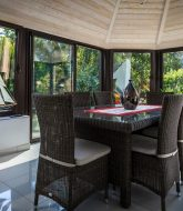 Veranda style orangerie : veranda bois bas rhin
