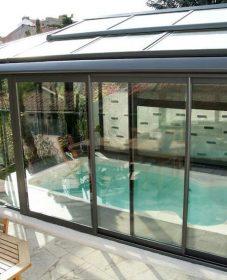 Baie veranda occasion, amenagement veranda avec spa
