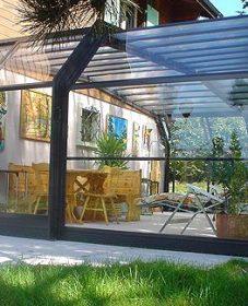 Veranda grill bar par véranda toit en verre avis