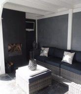 Veranda betonvloer ou beton pour veranda
