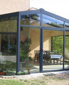 Veranda akena la roche sur yon : veranda rideau abri de piscine