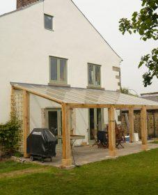 Extension en bois veranda par logo véranda