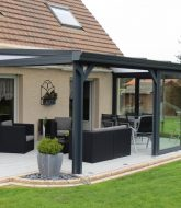 Veranda pas cher belgique ou veranda en aluminium gris