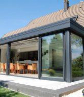 Veranda bois avec volet roulant ou veranda belgique poperinge