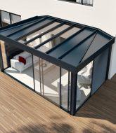 Veranda nouvelle generation, veranda angle maison