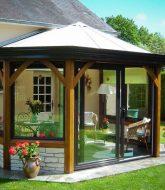 Modele veranda toit tuile : prix veranda ouverte
