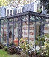 Veranda chauffée surface habitable – veranda en acier à l'ancienne
