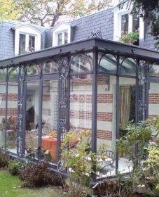 Veranda Chauffée Surface Habitable Veranda En Acier à L'ancienne