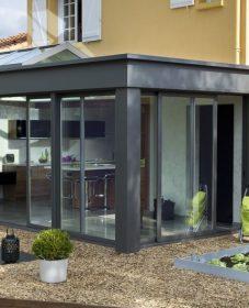 Veranda toit plat prix – veranda ouverte sur le salon