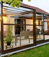 Retractable Glass Veranda Et Veranda Alu Vedene