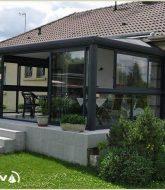 Veranda bois et brique ou akena veranda nantes
