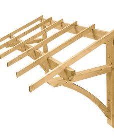Veranda door frame kit et veranda tout bois