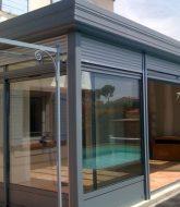 Porte coulissante veranda alu | veranda fer prix