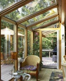 Veranda dans jardin – veranda glass extension