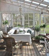 Véranda De Jardin Extérieur | Veranda En Bois Blanc