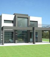 Veranda maison jumelée – toit plat pour veranda