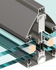 Veranda Toit Plat Design : Veranda Grau Alu