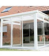 Veranda toit plat verre – prix veranda surelevee