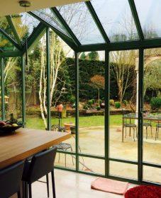 Photo veranda acier par veranda habitat