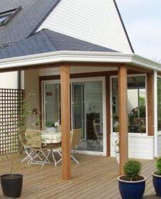 Veranda Avec Terrasse En Bois | Veranda Vue Extérieure