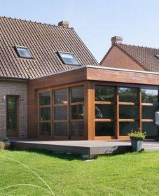 Veranda intégrée maison ou construction veranda acier