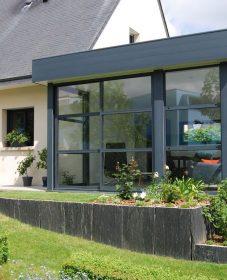 Veranda gris alu – veranda ouverte maison