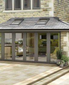 Cout veranda bois : veranda alu toit ardoise