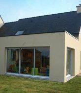 Store veranda pas cher | extension veranda bois toit plat
