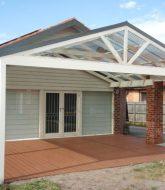 Veranda metal, metal roof verandah