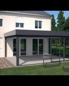 Moderne strakke veranda | veranda kit polycarbonate