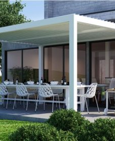 Veranda Amovible Pour Restaurant Et Veranda En Bois Blanc