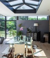 Extension veranda contemporaine par veranda retractable roof
