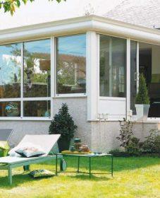 Veranda composite par veranda maison pierre extérieur