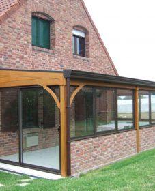 Une véranda en bois – veranda bois alu